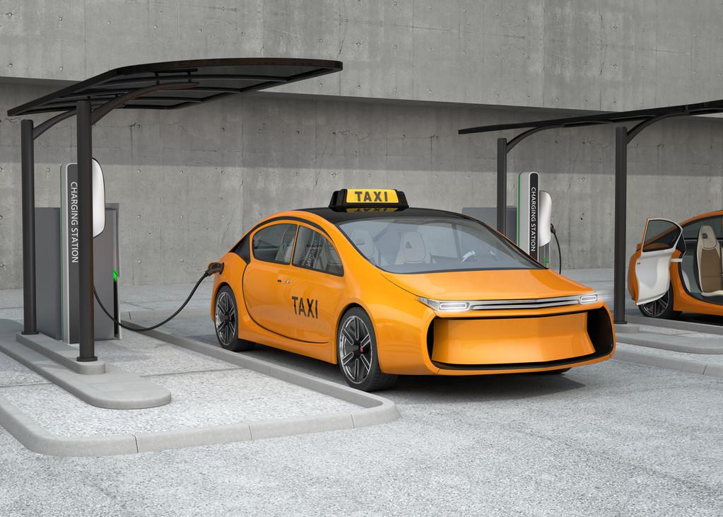elektrikli taksi şarj